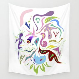 My pieces of invisible worlds II Wall Tapestry