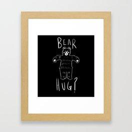 Bear Hug? Framed Art Print
