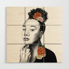 Autumn petals - floral portrait 2 of 3 Wood Wall Art