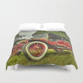 Stanley Steam Car Duvet Cover