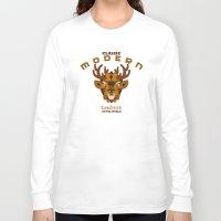 reindeer Long Sleeve T-shirts featuring REINDEER by toprock