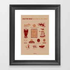 Doctor Who | Aliens & Villains Framed Art Print