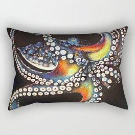 Octopus drawing, pastel pencil Rectangular Pillow