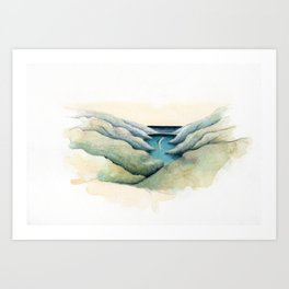 The sleeping whale Art Print