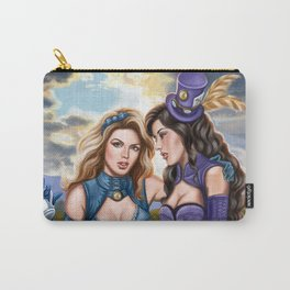 Steampunk Ms Mad Hatter and Alice in Wonderland Carry-All Pouch
