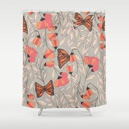 Monarch garden 001 Shower Curtain