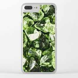 Vibrant greenery crystal rocks Clear iPhone Case