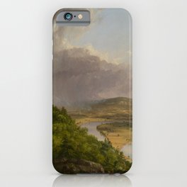 View from Mount Holyoke, Northampton, Massachusetts, after a Thunderstorm by Thomas Cole iPhone Case