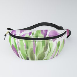 Tulips - Purple & Green Palette Fanny Pack