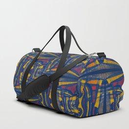 Rogue Burlap (Blue) Duffle Bag