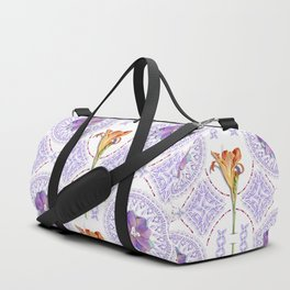 Gothic Revival Daylily Lace Duffle Bag