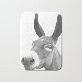 Black and white donkey Bath Mat