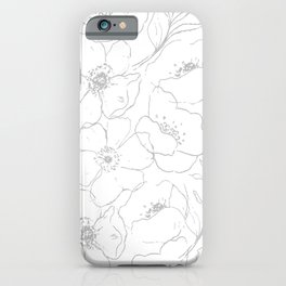 Floral Simplicity - Gray iPhone Case
