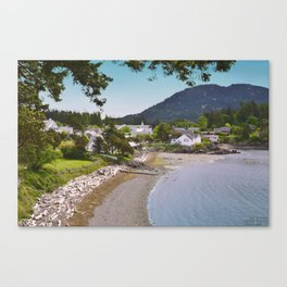 EASTSOUND ON ORCAS ISLAND IN THE PACIFIC NORTHWEST Canvas Print