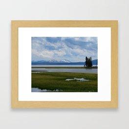 Pelican Creek - Yellowstone Lake Framed Art Print