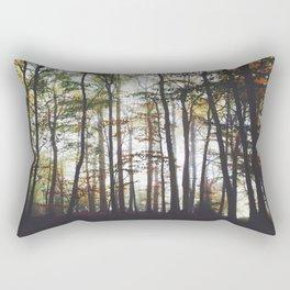 Autumn Forest Trees Rectangular Pillow