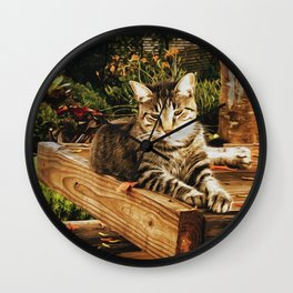 Kitty Garden 2 Wall Clock