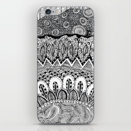 Black and White Doodle iPhone Skin