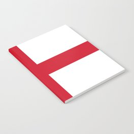 Flag of England - St. George's Cross Notebook