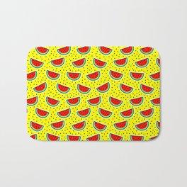 Watermelon on yellow Bath Mat