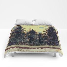 SHABBY CHIC ANTIQUE PHOTO PINE TREES ART Comforters