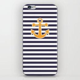 Blue , white , striped iPhone Skin