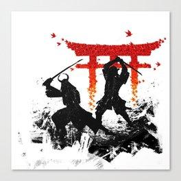 Samurai Duel Canvas Print