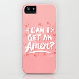 Can I Get An Amen? – Blush Pink Palette iPhone Case