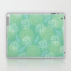 Pastel Peony and Leaf Pattern Design  Laptop & iPad Skin