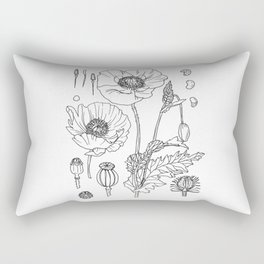 papaver somniferum Rectangular Pillow