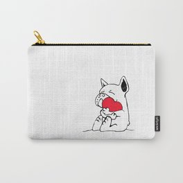 Frenchie Heart Carry-All Pouch