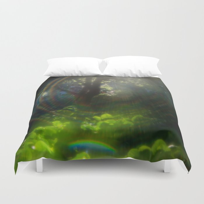 Rainbow Flare (Magic Garden Series) Duvet Cover by tatianabrasil