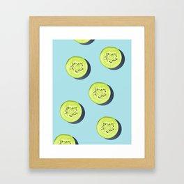 Kiwi Pattern #society6 Framed Art Print