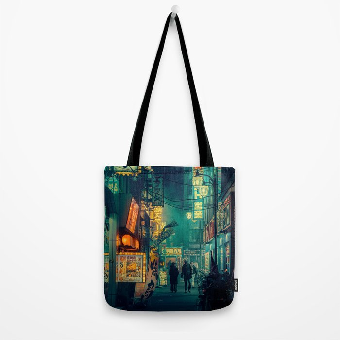 Tokyo Nights / Memories of Green / Blade Runner Vibes / Cyberpunk / Liam Wong Tote Bag