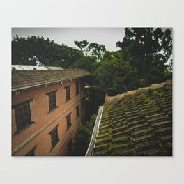 Kathmandu City Roof Tops - Architecture 01 Canvas Print