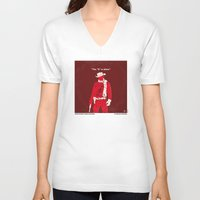 dentist V-neck T-shirts featuring No184 My Django Unchained minimal movie poster by Chungkong