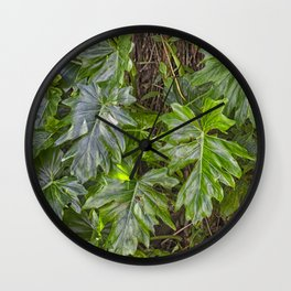 Luscious Green Rainforest Vine Wall Clock