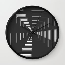 Infinity in Chrome Wall Clock