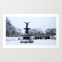 Snow in Central Park XI Art Print