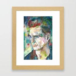 JACK KEROUAC - watercolor portrait.5 Framed Art Print