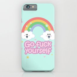 Go Fuck Yourself ;) (mint) iPhone Case