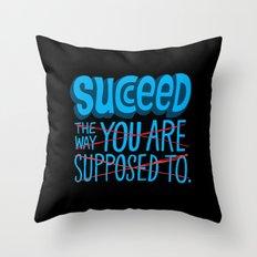 Succeed.  Throw Pillow