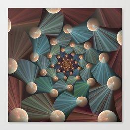 Graphic Design, Modern Fractal Art Pattern Canvas Print