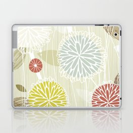 Abstract Floral Beige by Friztin Laptop & iPad Skin