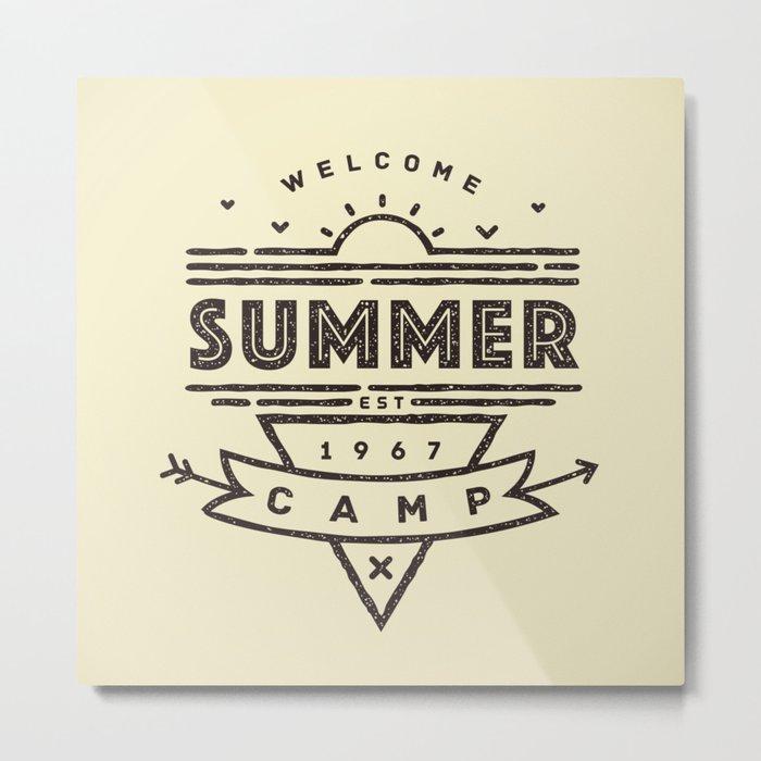 Summer Camp - est. 1967 Metal Print