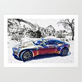 Travel In Style Art Print