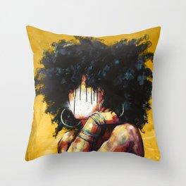 Naturally II GOLD Throw Pillow