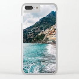 Rainy Positano XII Clear iPhone Case