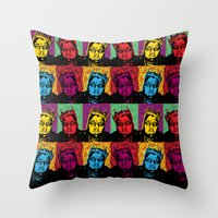 notorious big Throw Pillows featuring The Notorious BIG by 50mlDesigns