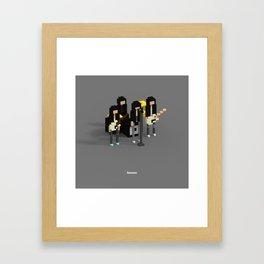 Voxel Ramones Framed Art Print
